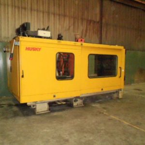 1995 Husky Model SX600PET 600 Ton Injection Molding Machine with Husky (3) Position Robot, and Dryer/Hopper.