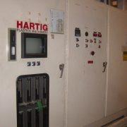 1991 Hartig Model MCP200 Dual 20  Pound Accumulator Head Blow Molding Machine