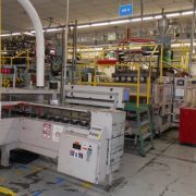 Liberty Model RS-4000 (6) Head Blow Molding Machine- Includes 6 lane cooling bed and impact trimmer