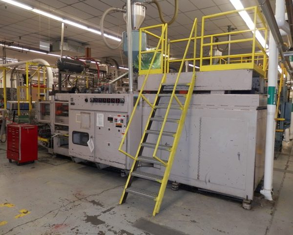 Liberty Model RS-4000 (6) Head Blow Molding Machine- includes cooling bed and trimmer