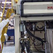 Hartig Dual 20 Pound Accumulator Head Blow Molding Machin