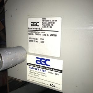 AEC Whitlock Model 255931A Material Distribution Controls