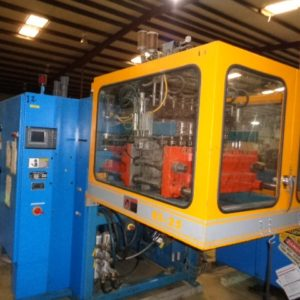 2003 Rocheleau Model RS-25 (8) Head Reciprocating Screw Blow Molding Machine