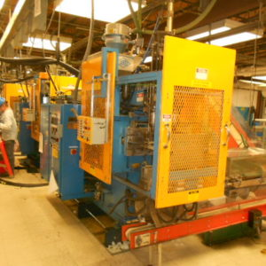 1992 Rocheleau Model SPB-2 Reciprocating Screw Blow Molding Machine