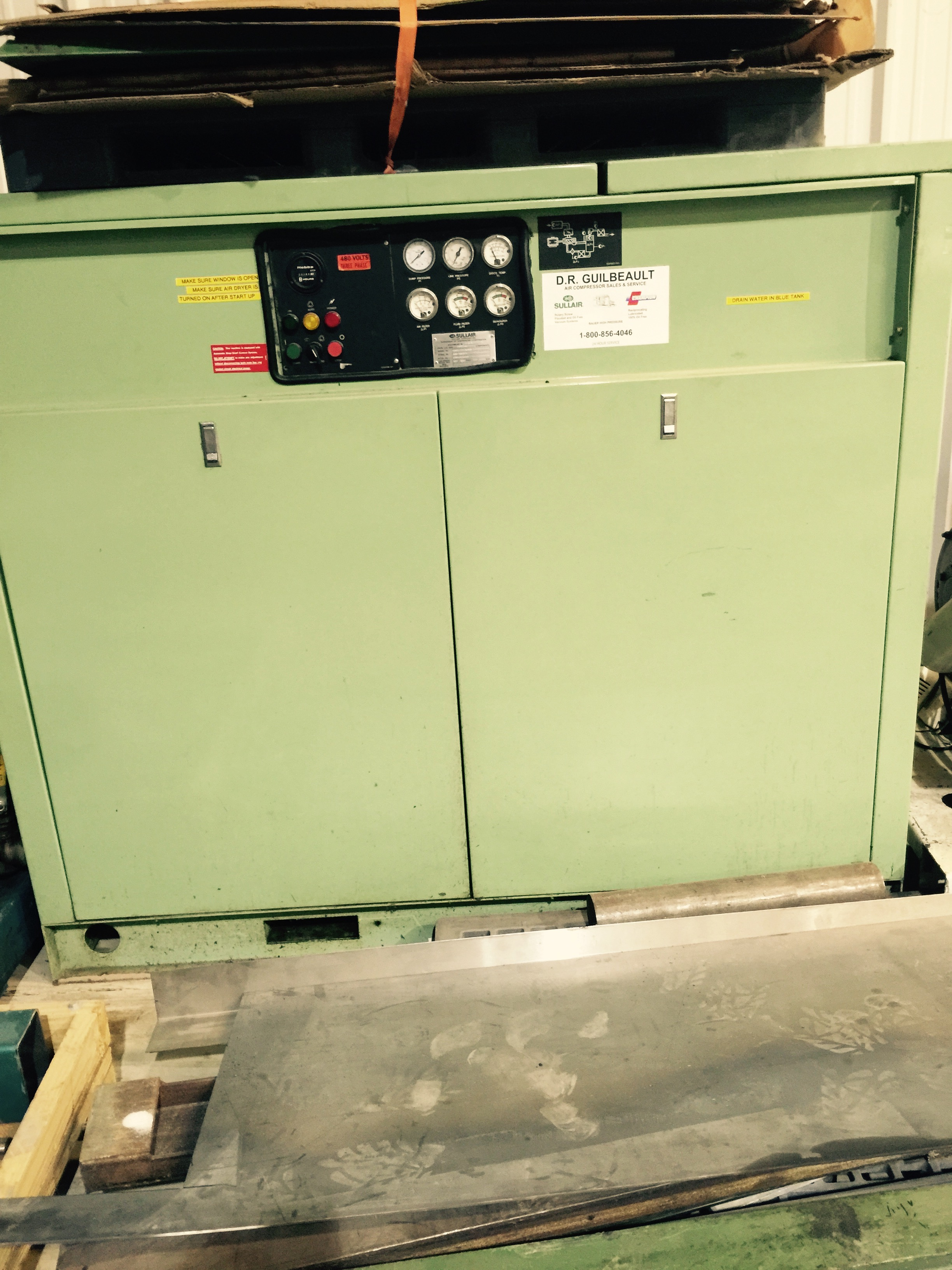 Sullair Model LS16-75H/A/SUL Low-Pressure Air Compressor