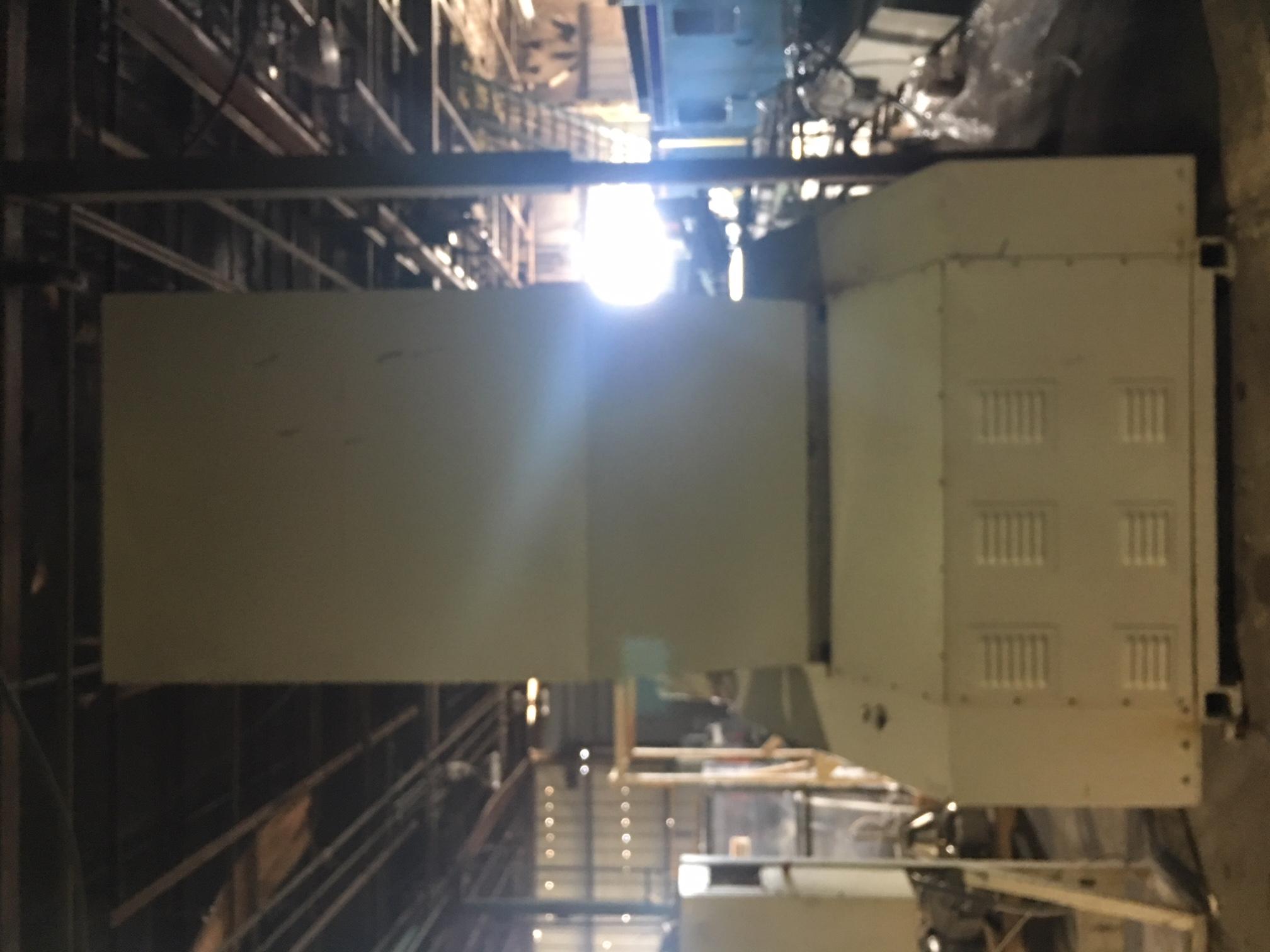 Used aec / nelmor mv810 feed roll granulator   blades machinery.