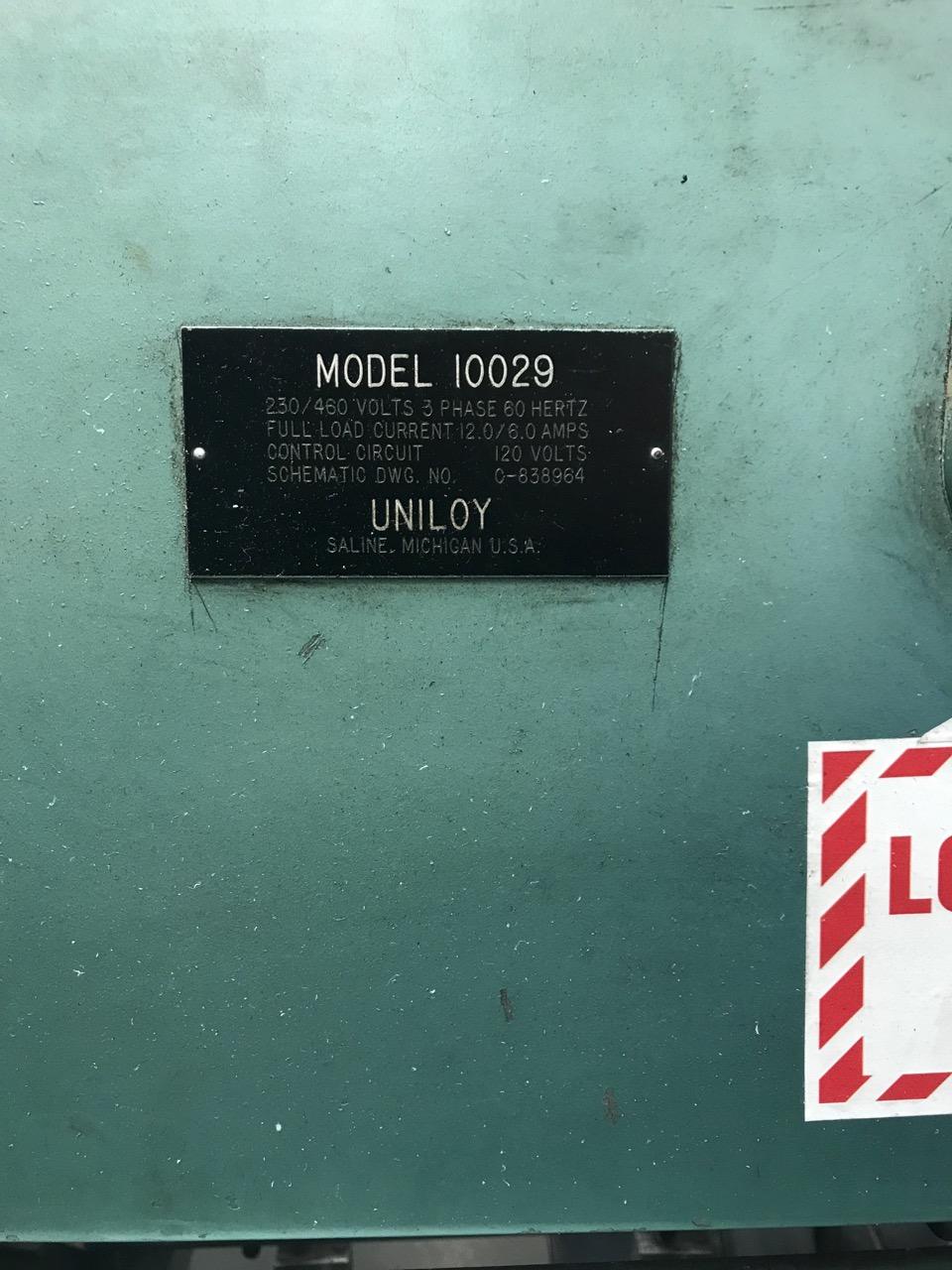 Uniloy Model 2010 2 Head Blow Molding Machine