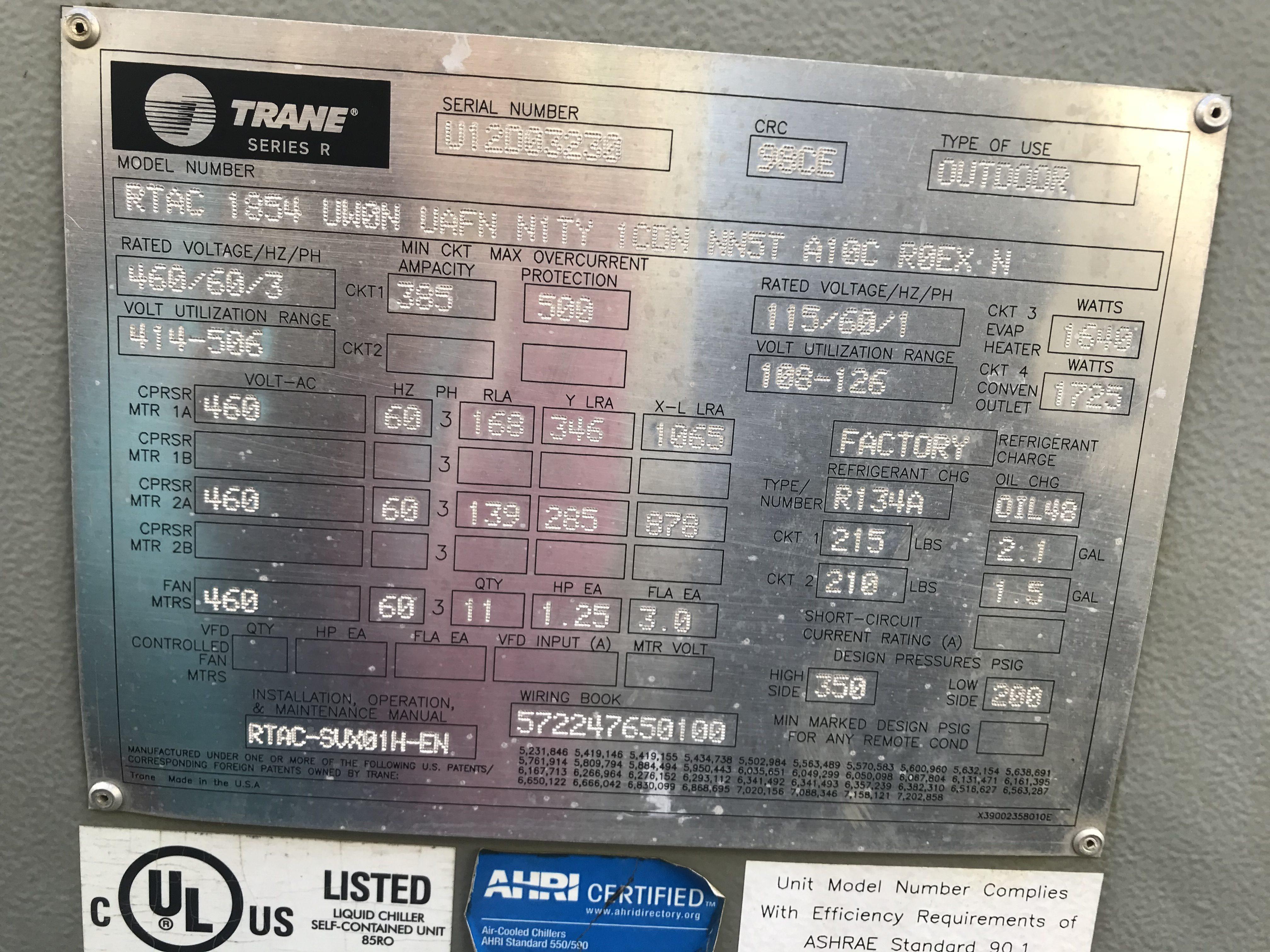 trane compressor serial number lookup