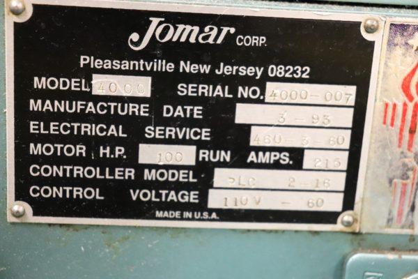 1993 Jomar Model 135 Injection Blow Molding Machine