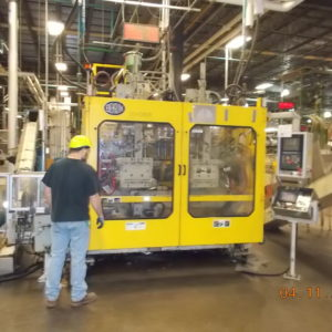 2003 Bekum Model H-155 Continuous Extrusion Blow Molding Machine with Proco Take Out/Trimming System
