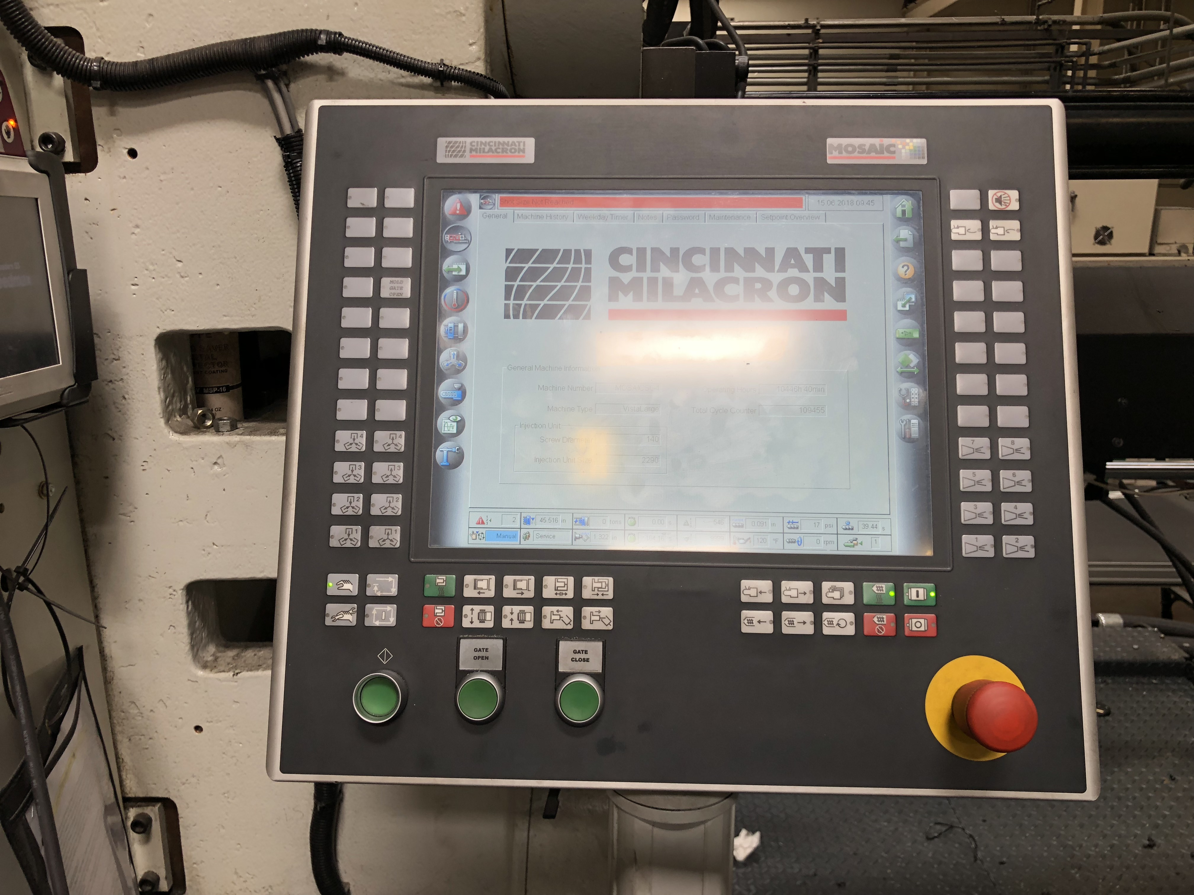 cincinnati milacron model vl 850 362 injection molding machine rh internationalpack com Cincinnati Milacron Injection Molding Cincinnati Milacron Manual Milling Machines