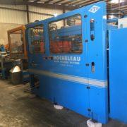 Rocheleau Model R-70 (10) Head Reciprocating Screw Blow Molding Machine