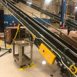 Hytrol Incline and Flat Belt Over Conveyor