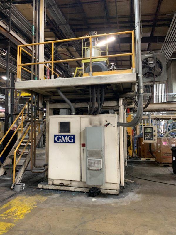 Graham Engineering Model GEC15DP7440 Dual 15 Pound Accumulator Head Blow Molding Machine