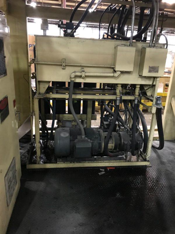 Graham Engineering Model GEC20DP7460 Dual 20 Pound Accumulator Head Blow Molding Machine