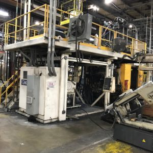 Graham Engineering Model GEC15DP7440 Dual 15 Pound Accumulator Head Blow Molding Machine