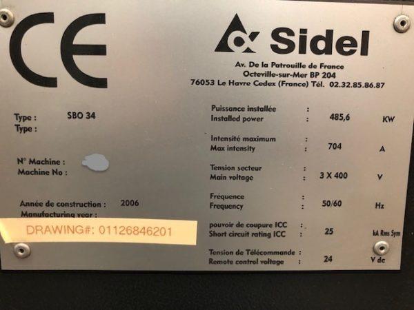 2006 Sidel Model SBO 34 XS Universal PET Reheat Stretch Blow Molding Machine
