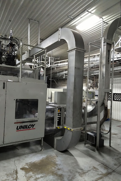 Uniloy Model R2000 (3) Head Reciprocating Screw Blow Molding Machine (Complete Line)