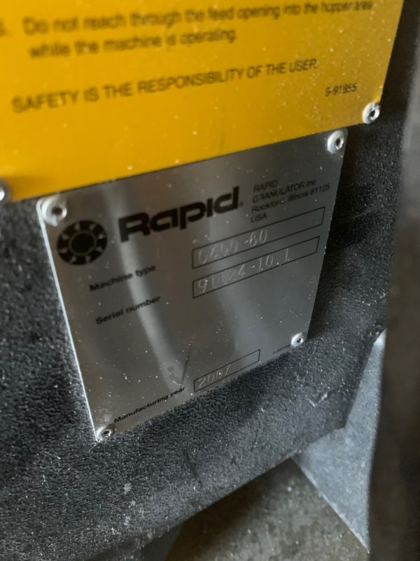 Rapid Model 400-60 Granulator
