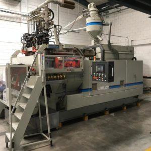 Uniloy Model 350 R2 (6) Head Reciprocating Screw Blow Molding Machine