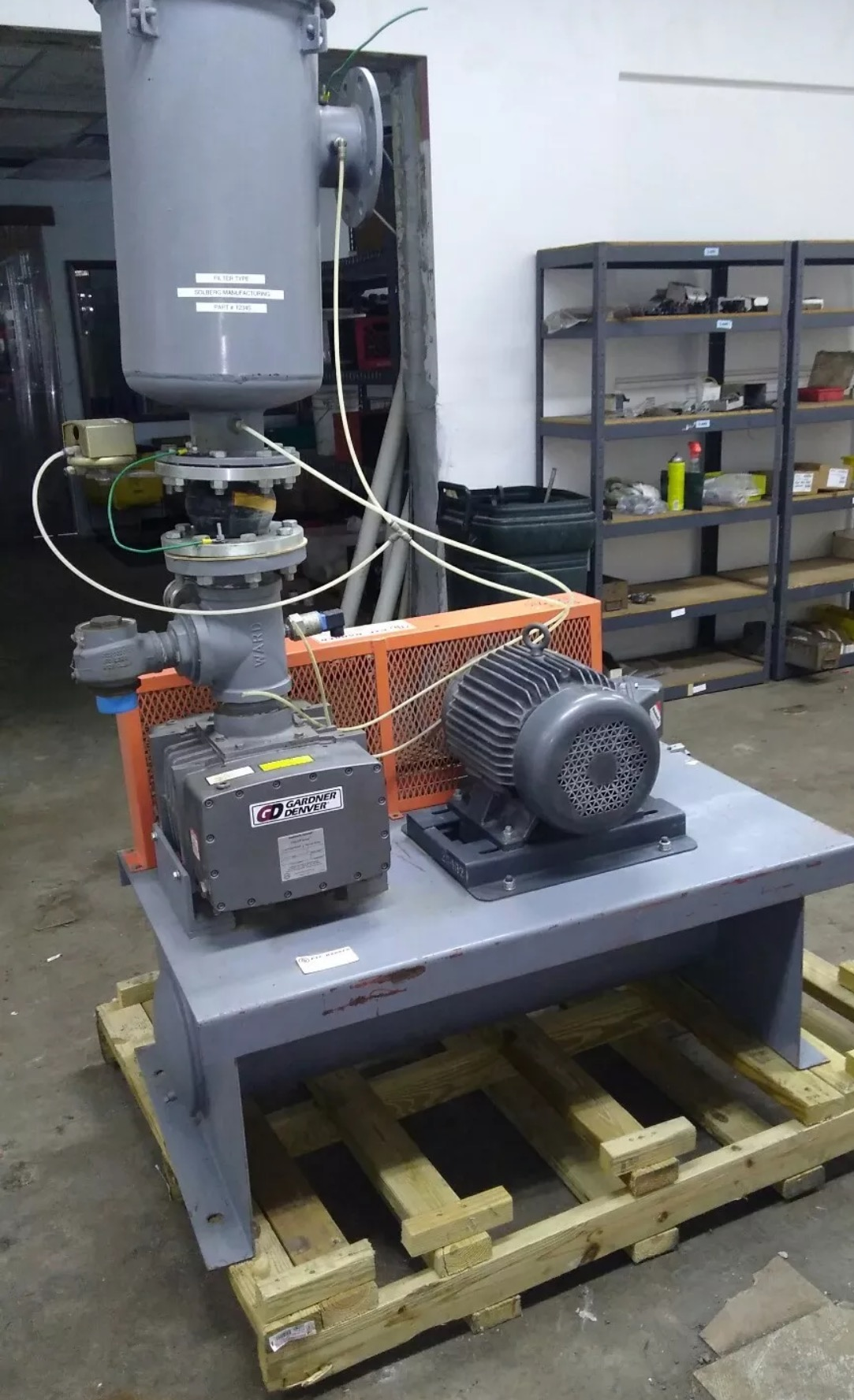 Gardner Denver Model Hycljaa Vacuum Pump International Packaging Wiring A