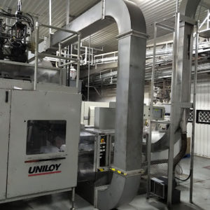Uniloy Model R2000 (3) Head Reciprocating Screw Blow Molding Machine (Complete Line)
